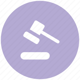 auction, auction hammer, gavel, hammer, justice, mallet icon