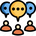 chat, communication, group, meeting, message, people, talk icon
