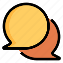 bubble, chat, communication, conversation, message, social, speech icon