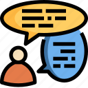 chat, communication, message, people, speech, talk icon