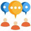 chat, communication, group, meeting, message, people, talk