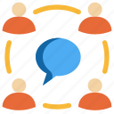 chat, communication, discuss, meeting, people, social, talk icon