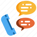 chat, conversation, message, phone, social, speech, talk icon