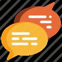 bubble, chat, communication, message, speech, talk, conversation