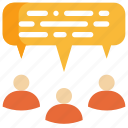 chat, conference, discuss, group, meeting, people, talk icon