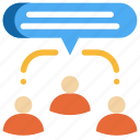 chat, communication, meeting, people, speech, talk, team