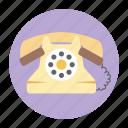 dial set, handset, landline phone, telecommunication, telephone icon