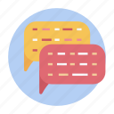 chat bubble, chatting, communication, conversation, discussion, messaging, sms icon