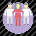 community, company group, leadership, people, team, teamwork icon