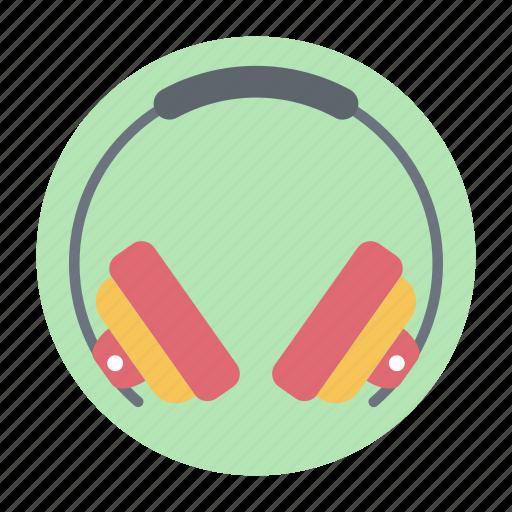 earphone, earspeakers, headgear, headphone, headset icon