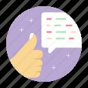 customer feedback, customer satisfaction, customer testimonial, user experience icon