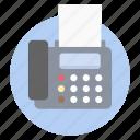 facsimile machine, fax, fax machine, telefacsimile, telefax, telephotography icon
