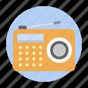 audio, broadcasting device, fm, radio, radio station, sound transmission icon