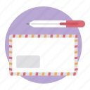 communication, envelope, letter, letter cover, message, post envelope icon