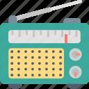 mass media, music, radio, receiver, signal, speaker, transmission icon