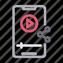 media, mobile, player, social, video