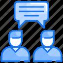 communication, conversation, gossip, reply, talk