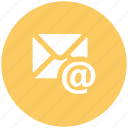 arobba sign, correspondence, email, envelope, inbox, mailbox, subscribe icon