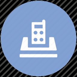 communication, cordless phone, intercom, police radio, radio transceiver, walkie talkie icon