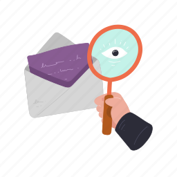 communication, emails, search, find, magnifier, scan, envelope, message