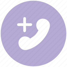 add to call, communication, connection, information explosion, plus sign, telecommunication, telephone receiver icon