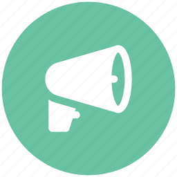 advertising, alert, announcement, audio, megaphone, music, sound icon
