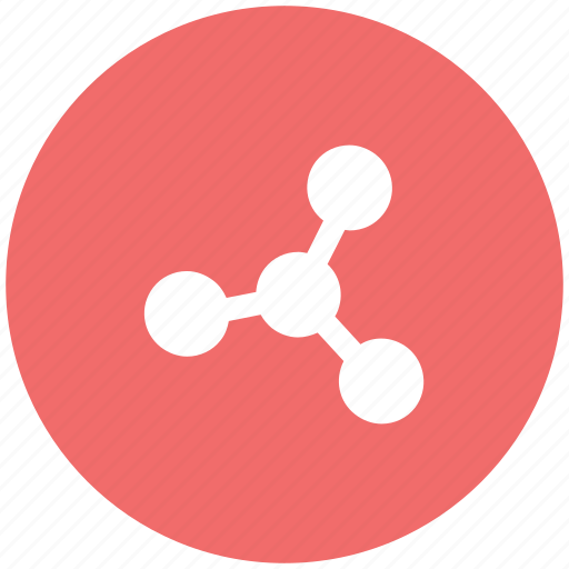 communication, compound, connection, linkage, molecule, network, structure icon