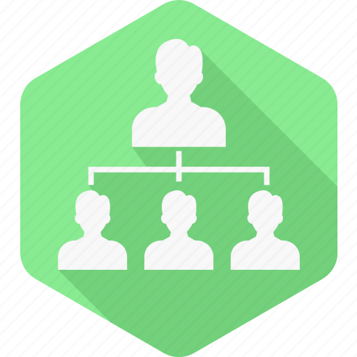 connection, group, hierarchy, leader, network, people, team icon