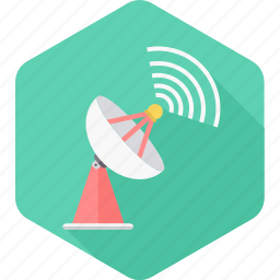 antenna, connection, dish, network, satellite, signal, technology icon