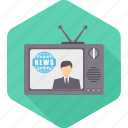 antenna, channel, information, live, media, news, video icon