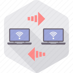 computer, connection, data, internet, network, sharing, wifi icon