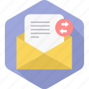 inbox, letter, mail, receive, send, forward, forwarding