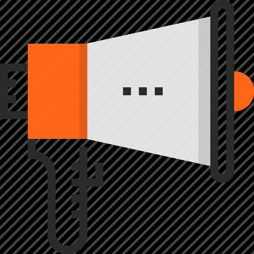 Advertising, bullhorn, communication, loudspeaker, marketing, megaphone, promotion icon - Download on Iconfinder