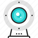 camera, communication, digital, stream, video, web, webcam icon