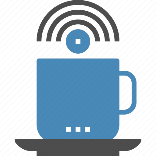 coffee, connection, cup, hotspot, internet, network, wifi icon