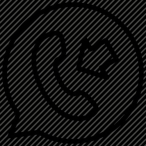 call, callin, communication, inbox, interface, media, phone icon
