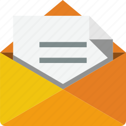 communication, document, e-mail, envelope, inbox, letter, mail icon