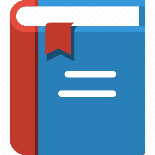 blue, book, closed, communication, e-book, education, library icon