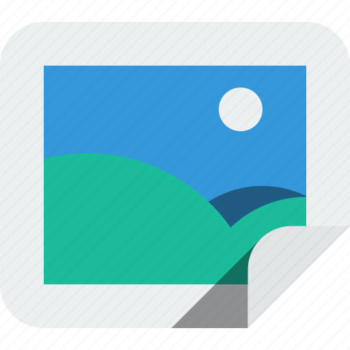 communication, green, landskape, moon, multimedia, photo, photograph, picture, sun icon