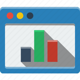 blue, browser, chart, communication, diagram, internet, multimedia, statistics, web, window icon