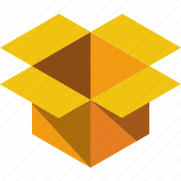 box, inbox, opened, parcel, present, shipping, storage icon