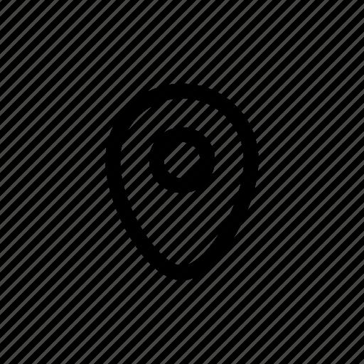 location, pin, position icon