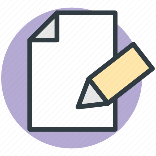 document, note, pencil, sheet, writing icon