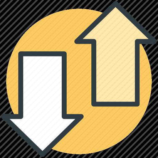 arrows, direction arrows, down arrow, navigation arrows, up arrow icon