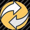 loading arrows, processing arrows, refresh, sync, synchronization