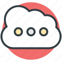 cloud computing, cloud storage, data storage, icloud, storage cloud icon