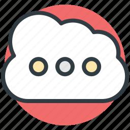 cloud computing, cloud storage, data storage, icloud, storage cloud icon