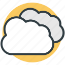 clouds, weather, puffy clouds, storage cloud, computing cloud icon