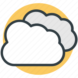 clouds, computing cloud, puffy clouds, storage cloud, weather icon