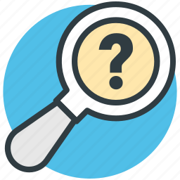 magnifier, magnifying glass, questionmark, searching error, unknown search icon